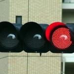 信号無視の否認例[黄色?赤色?]